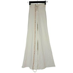 Oh Polly Knit Pants Ivory Cream High Rise Flare